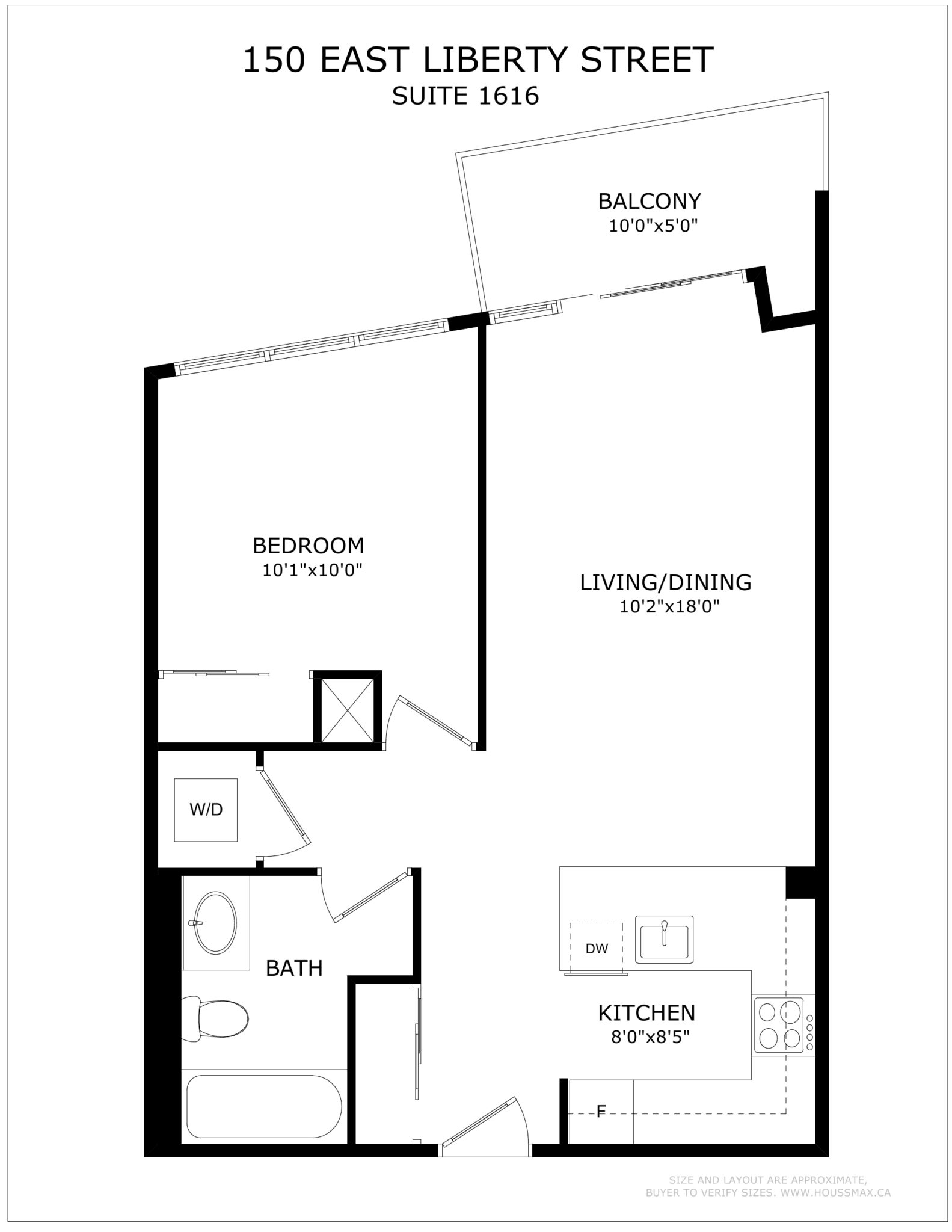 The floor plans for Unit 1616.