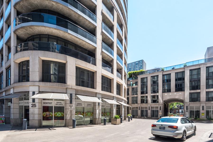 25 Carlton Street, also known as Encore Condo, and its facade