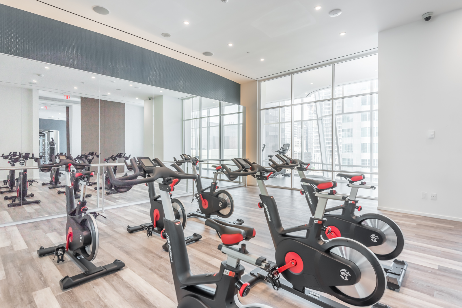 Spin studio and cycles at One Bloor Condos in Toronto.