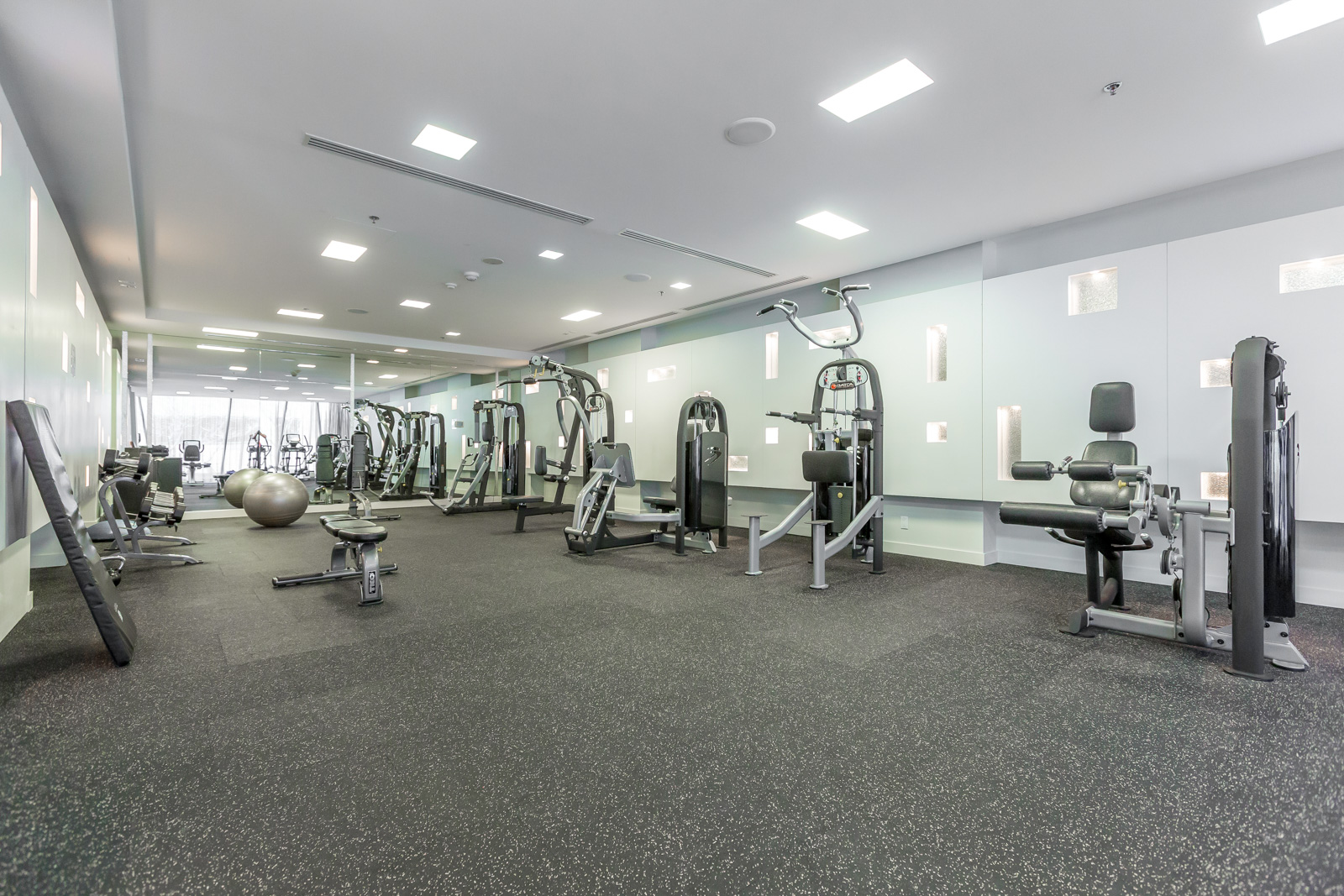 The Couture Condos gym and equipment