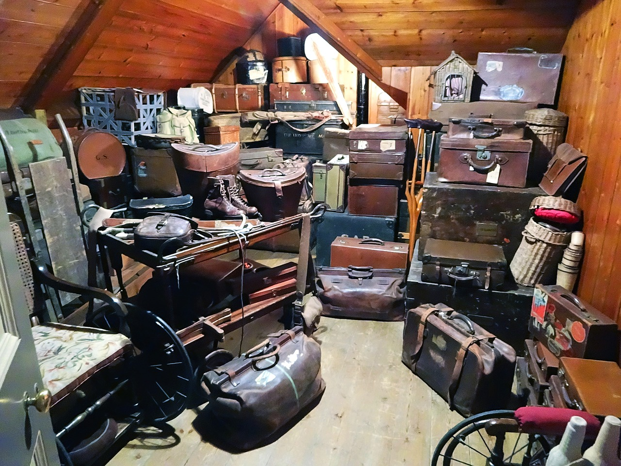 Pre-Listing Tip 4 shows an attic full of bags and luggage.