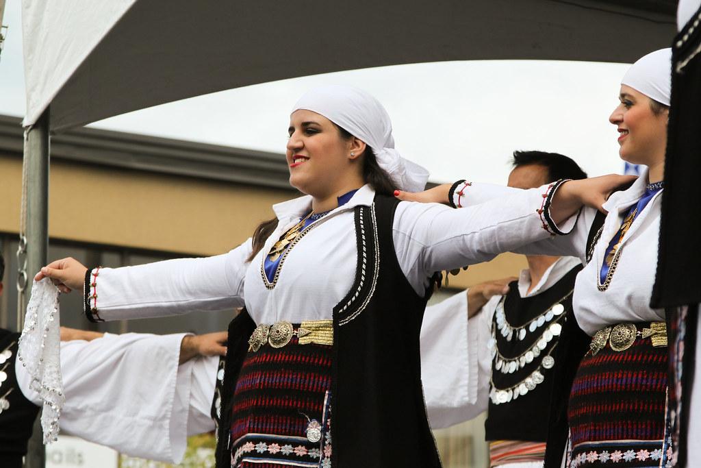 Traditional Greek dance at Taste of Danforth in Greektown Toronto.