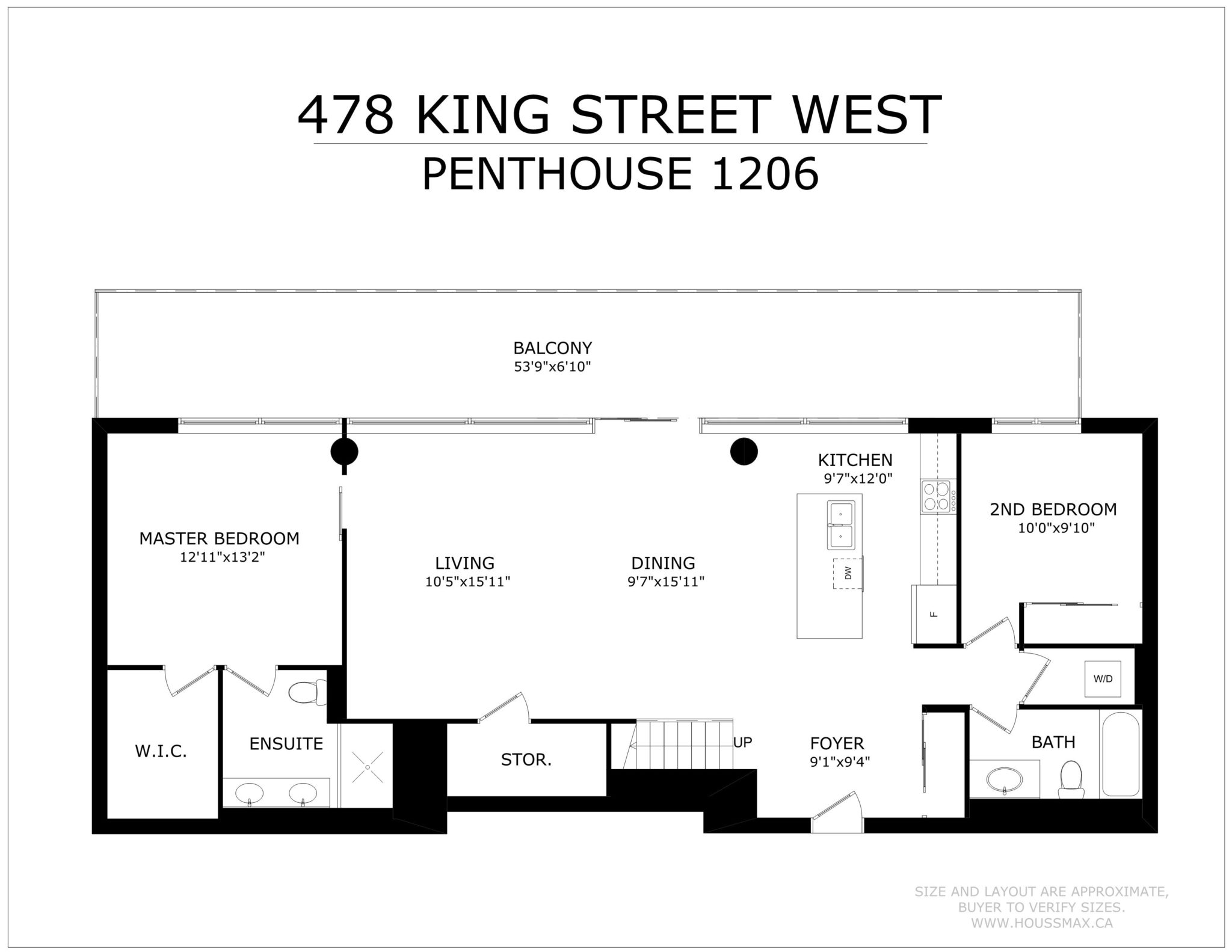 Floor Plans (1st Floor) for Victory Lofts Penthouse Suite in 478 King St W Toronto.