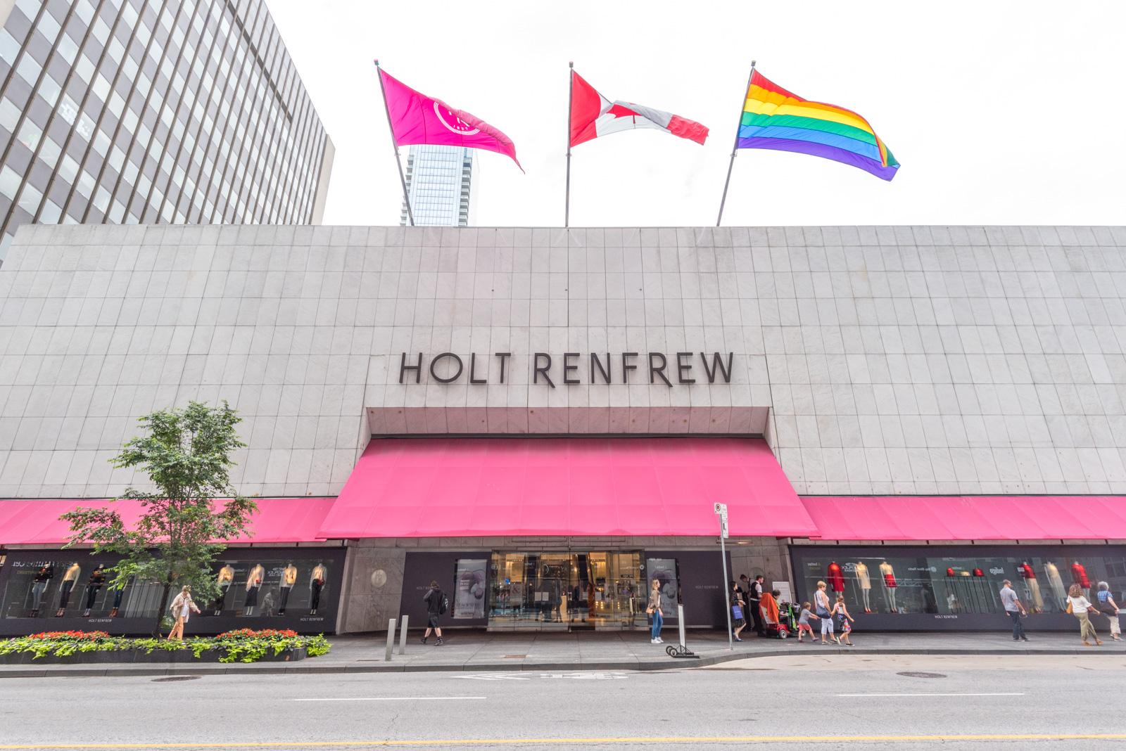 Holt Renfrew facade in Toronto.