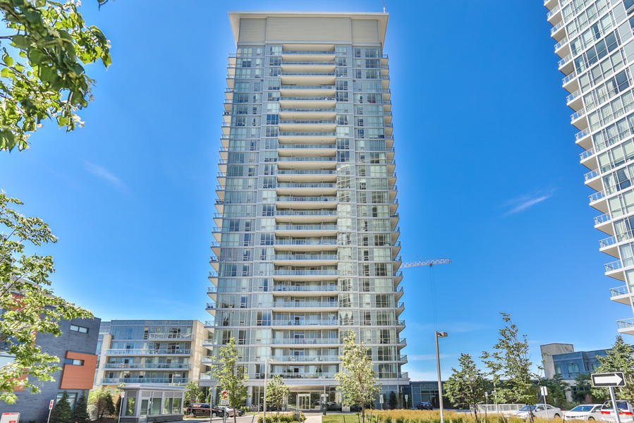 Street view of Dream Tower at Emerald City Condos on 62 Forest Manor Rd, Toronto.
