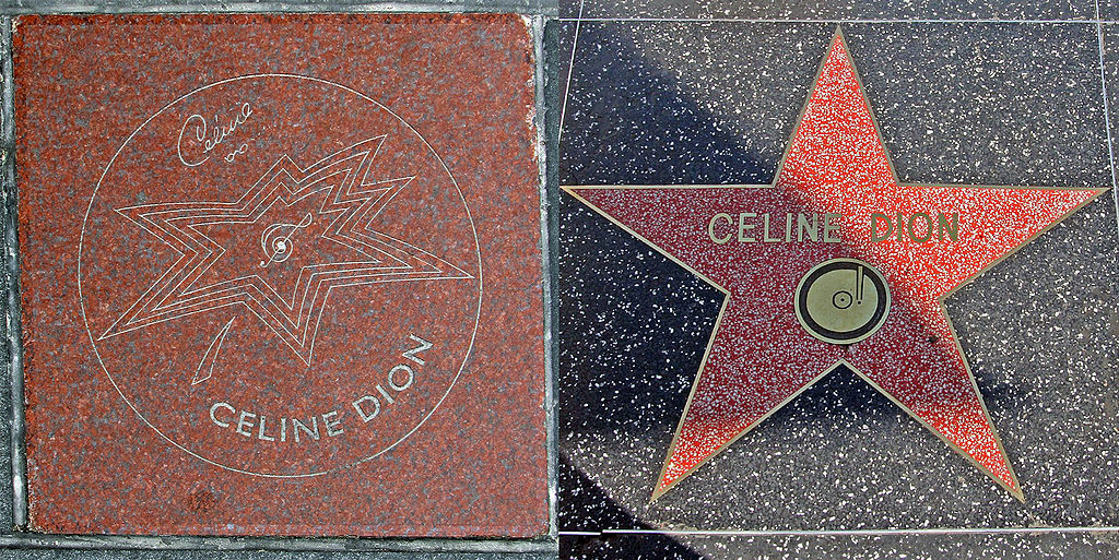 Celine Dion's Canada's Walk of Fame Star in Toronto's Entertainment District.