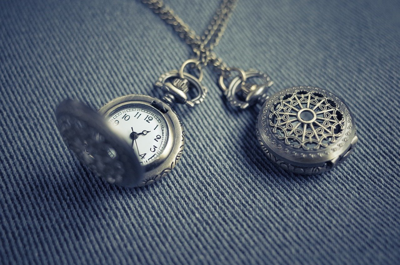 antique pocket watch silver 1