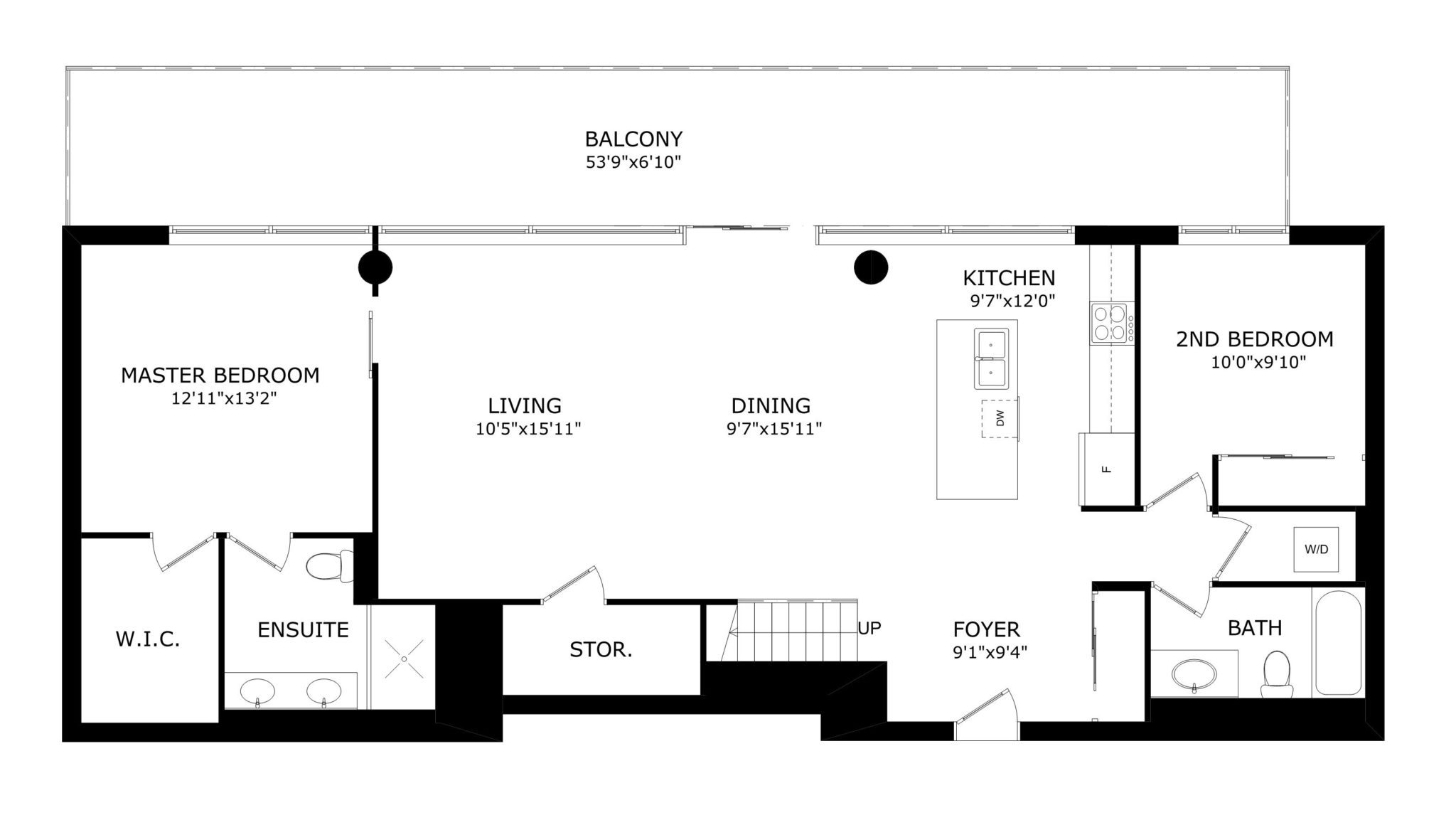 Floor Plan of penthouse condo