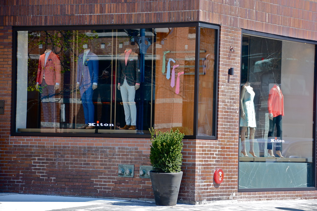 Kinton storefront and mannequins in Yorkville.