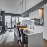 9. 1 bloor st e unit 4305 toronto linear kitchen island breakfast bar