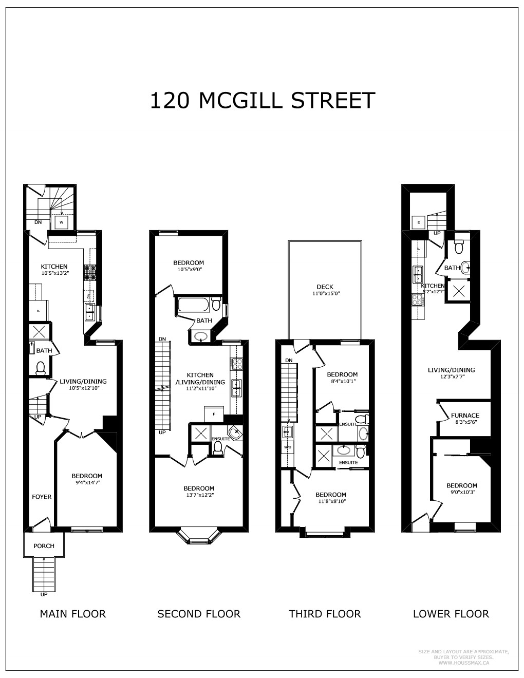 Floor plans for 120 McGill St.