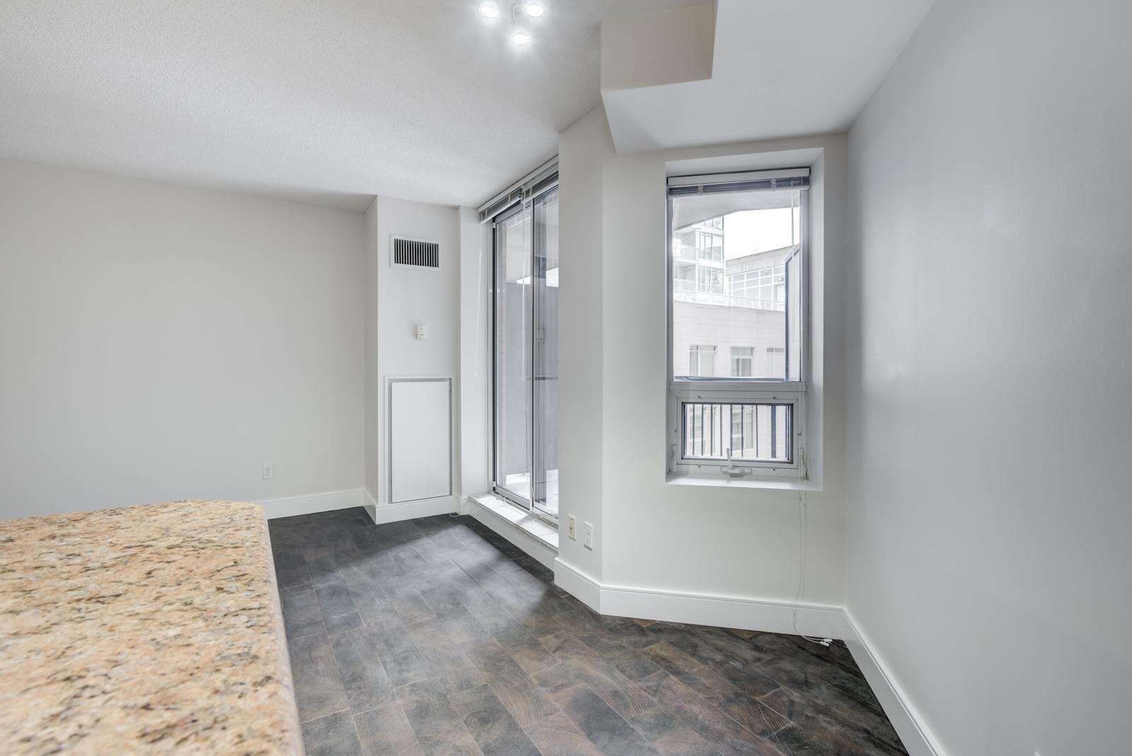 Gray wall with window.