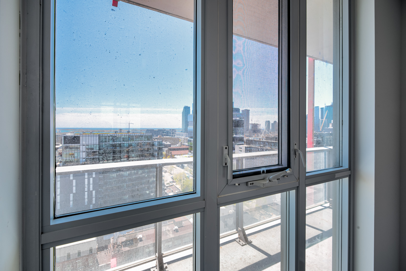 View of Toronto and Waterfront from living room of 120 Parliament St #1610.