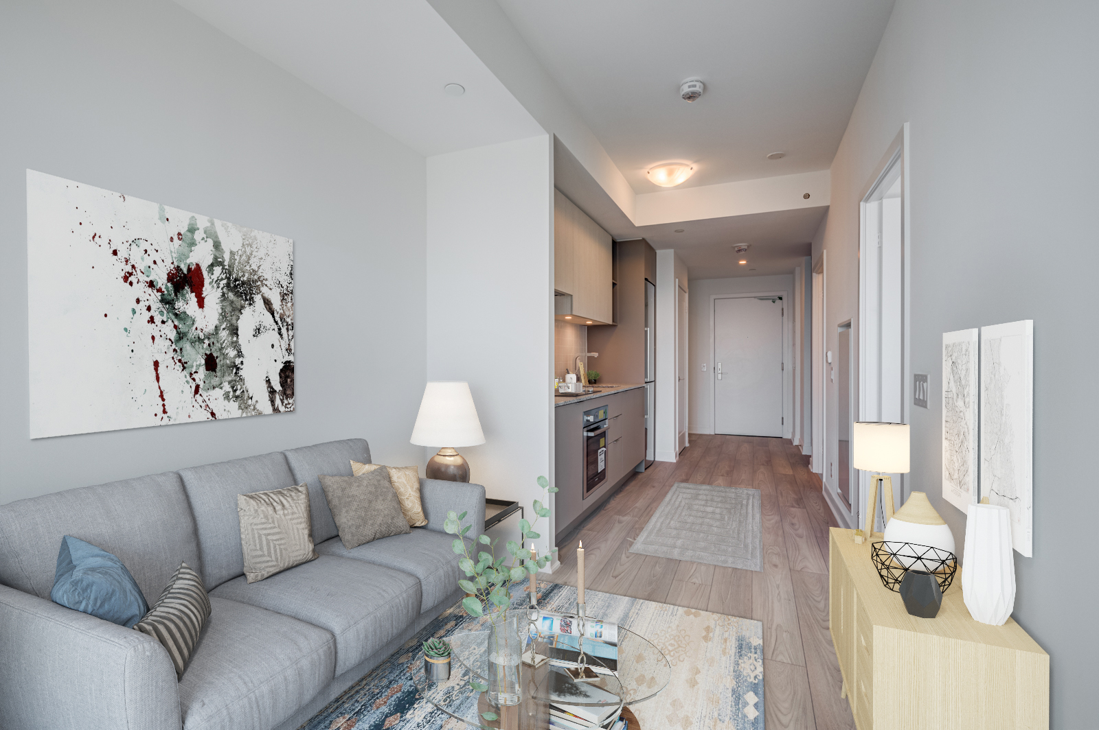 120 Parliament St Unit 1610, condo unit with linear design.