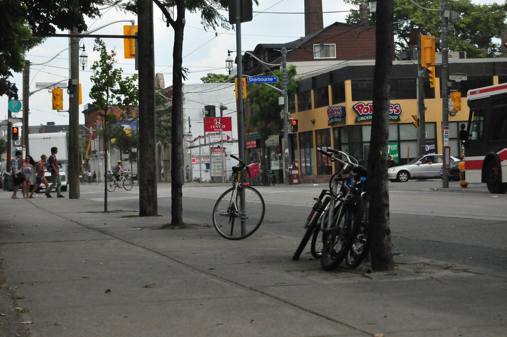 Sherbourne Street in Moss Park Toronto.
