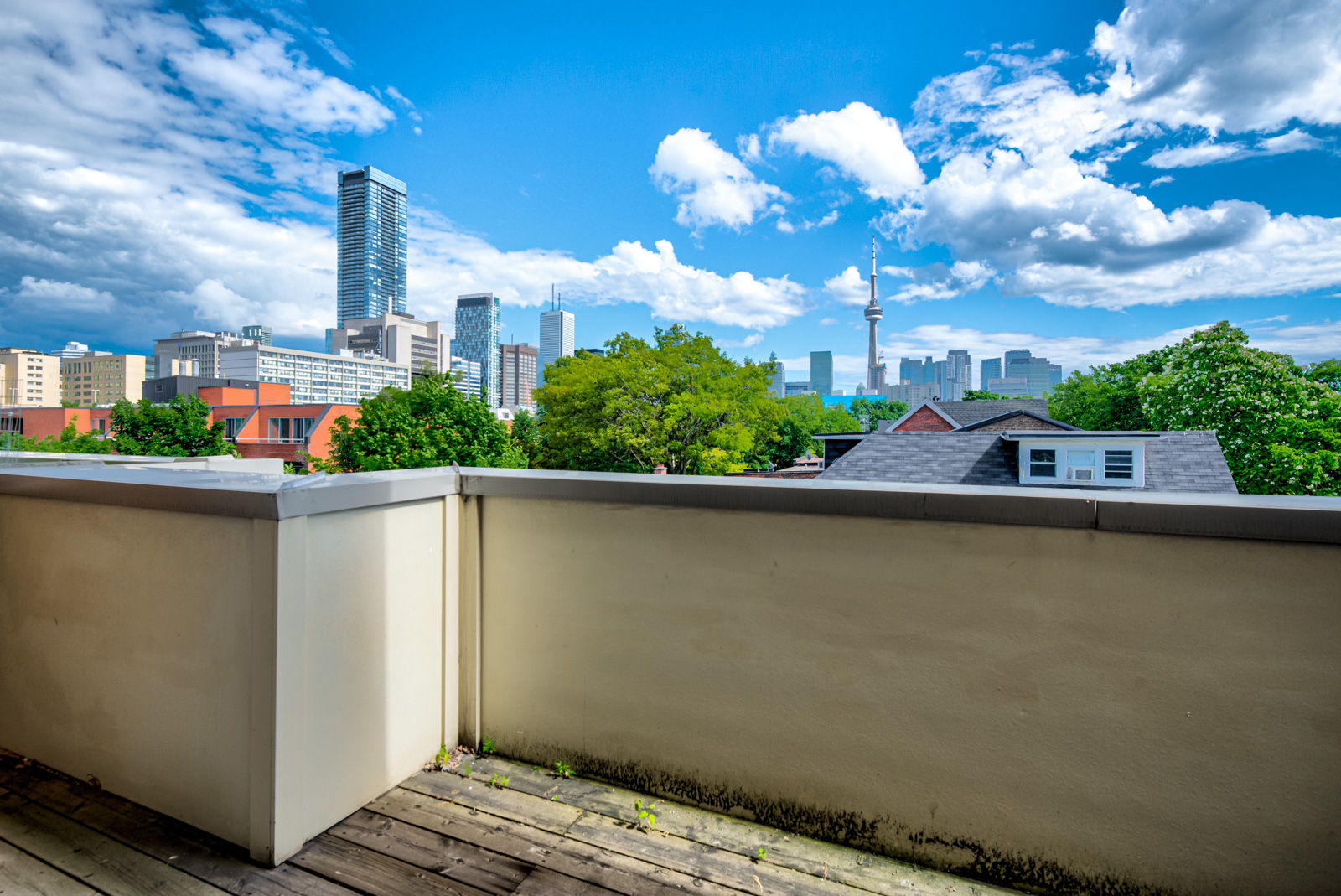 Afternoon view of Toronto skyline from 12A Cecil balcony.