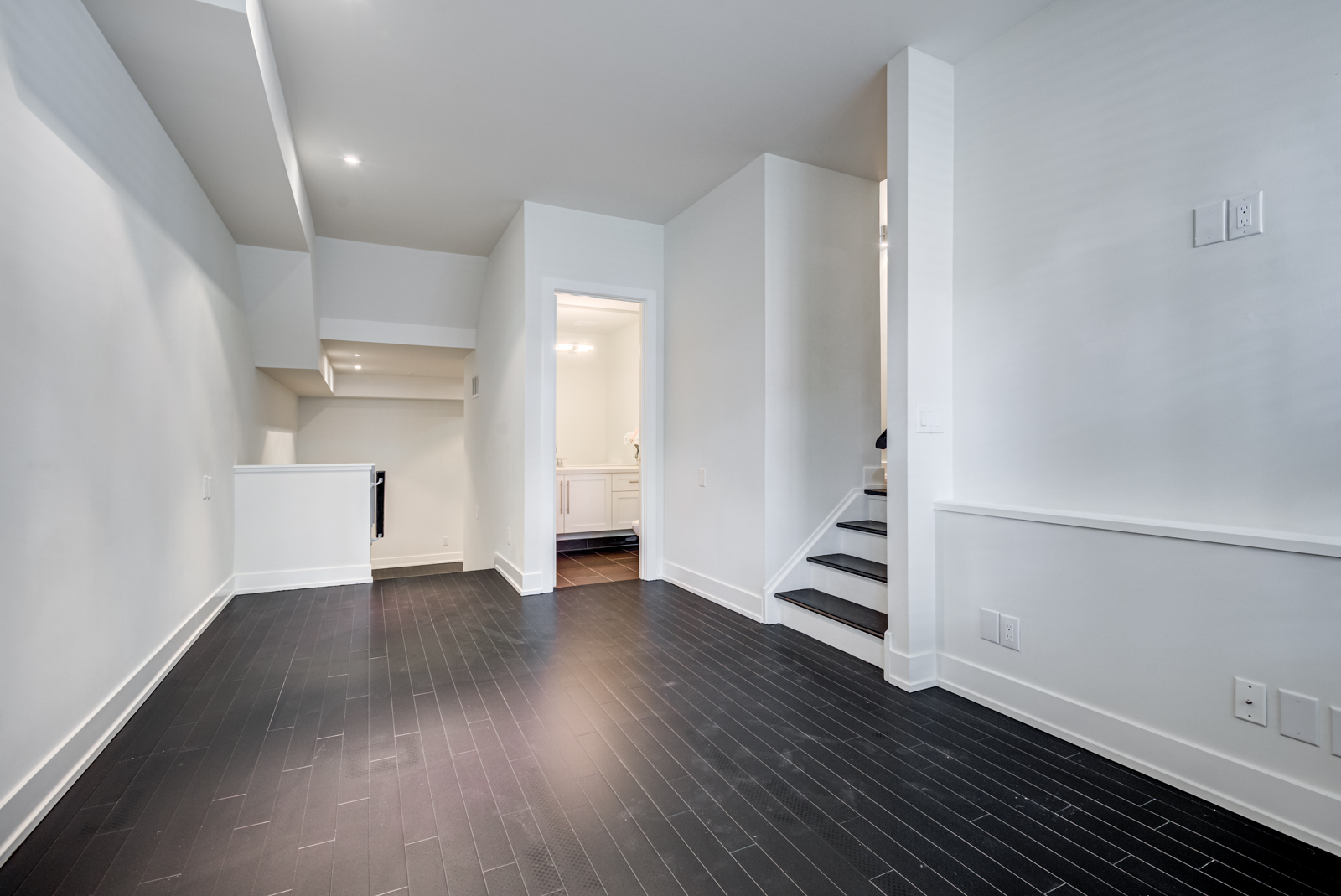 Huge empty townhouse condo lower level