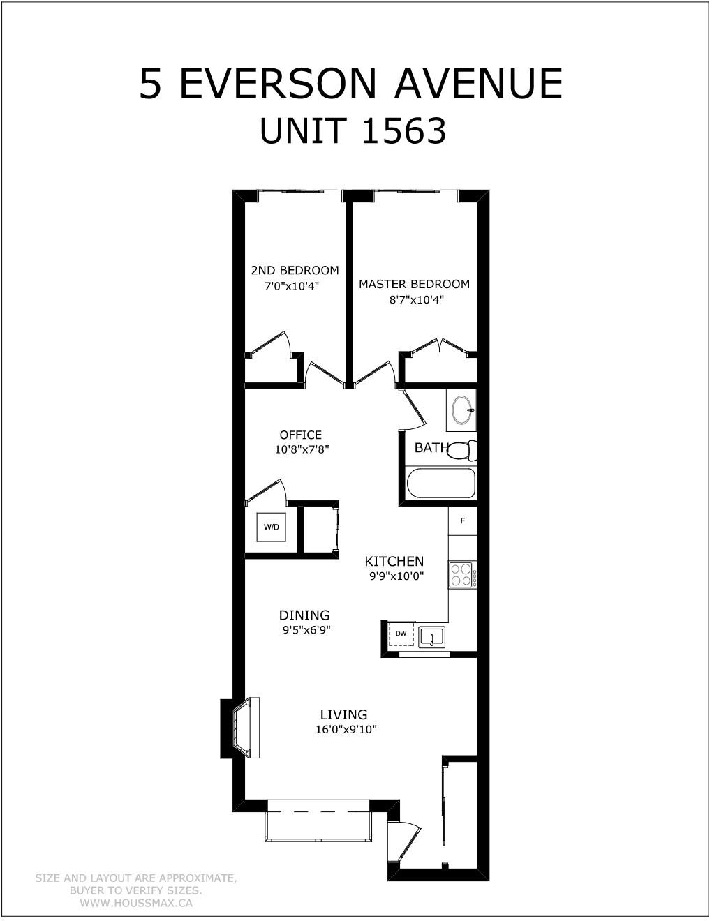 Floor plans for 5 Everson Dr Unit 1563
