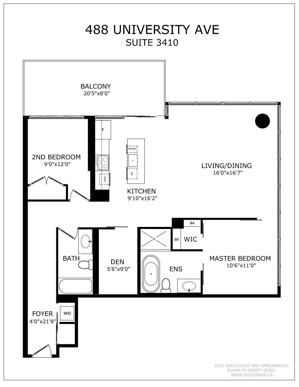 488 University Ave Unit 3410 Floor Plans