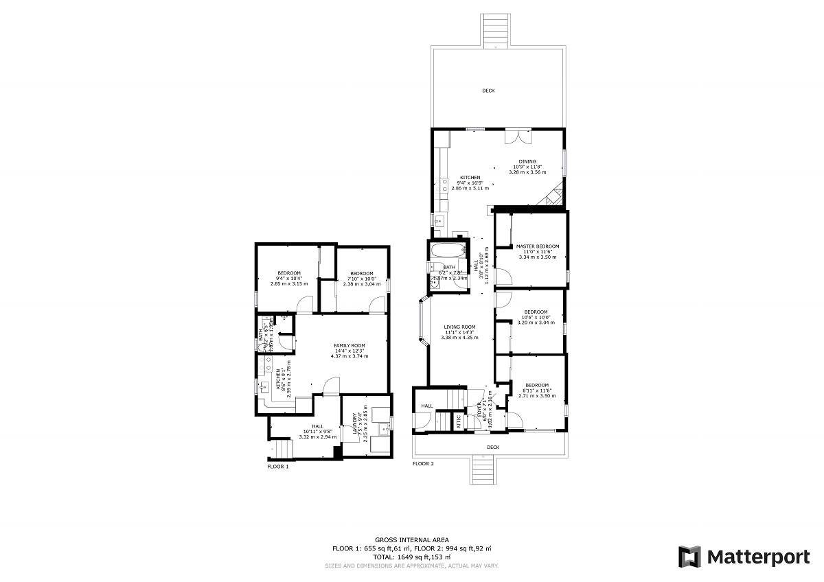 Floor Plans for 117 Phillip Ave