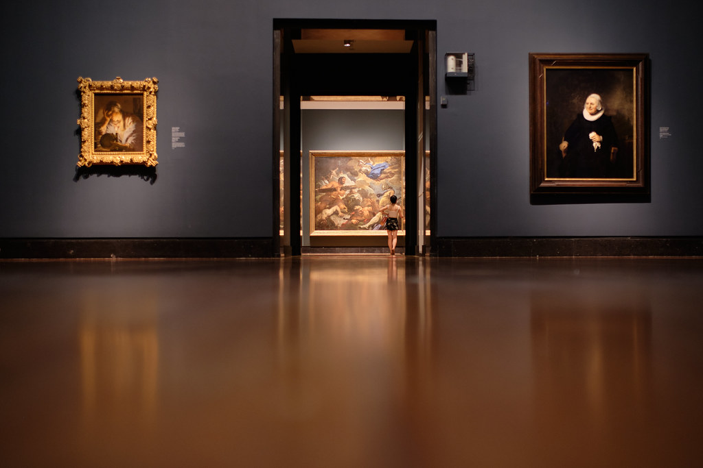 Art Gallery of Ontario exhibit with 3 large paintings.