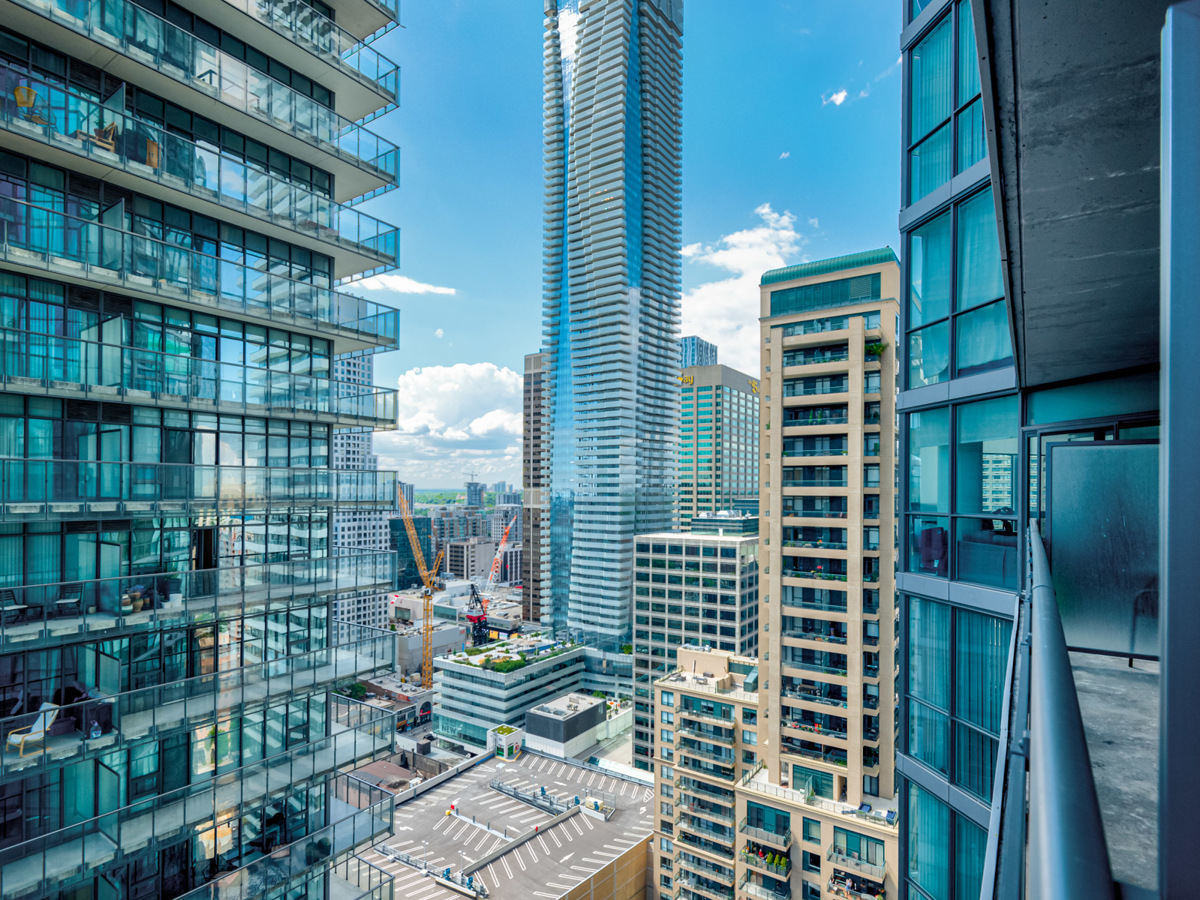 View of Church-Yonge Corridor in Toronto from 45 Charles St E balcony.