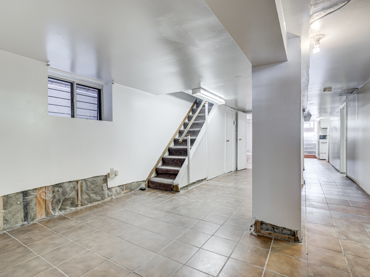 Large, partially-finished basement of 51 Rusholme Park Crescent.