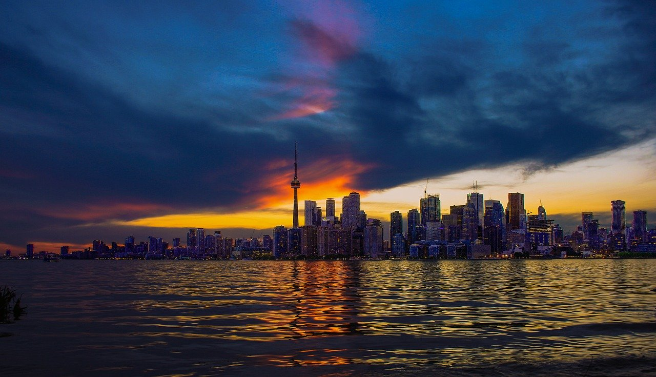 Toronto skyline evening showing July 2020 Housing Market optimism.