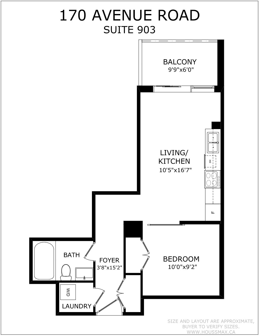 Floor Plan for 170 Avenue Rd Unit 903