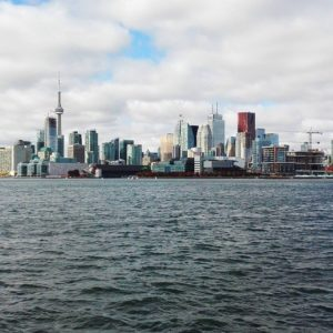 View of Toronto skyline from Lake Ontario.