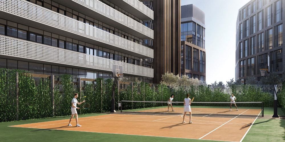 19 lighthouse condo east tower tennis court render