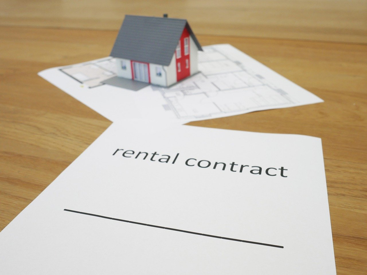 Rental contract form.
