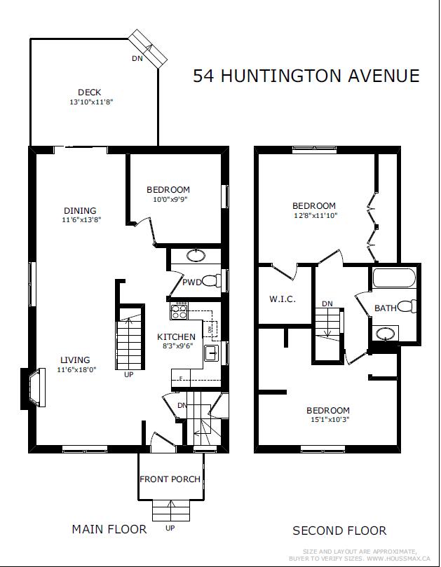Floor plans for 54 Huntington Ave.