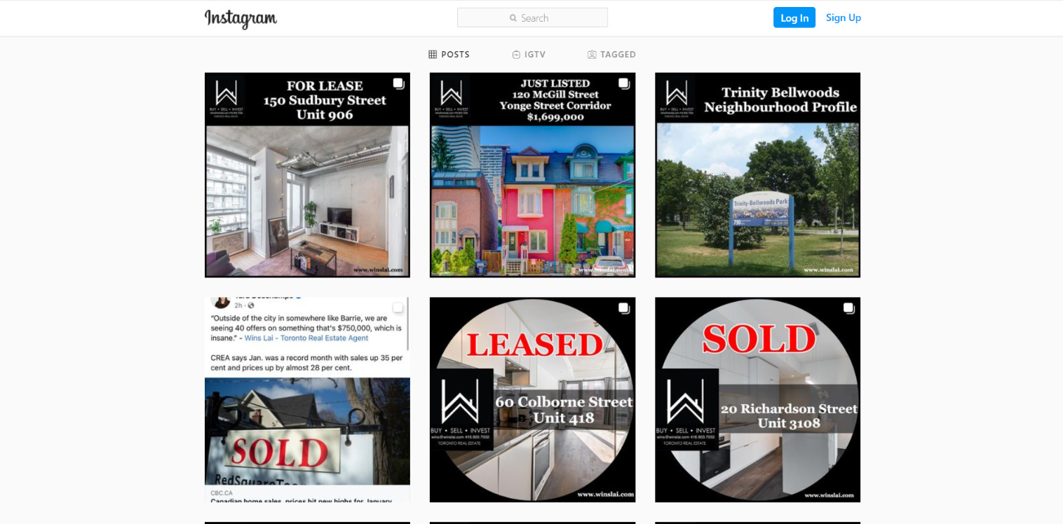 Increase a home's property value by marketing homes on Instagram.
