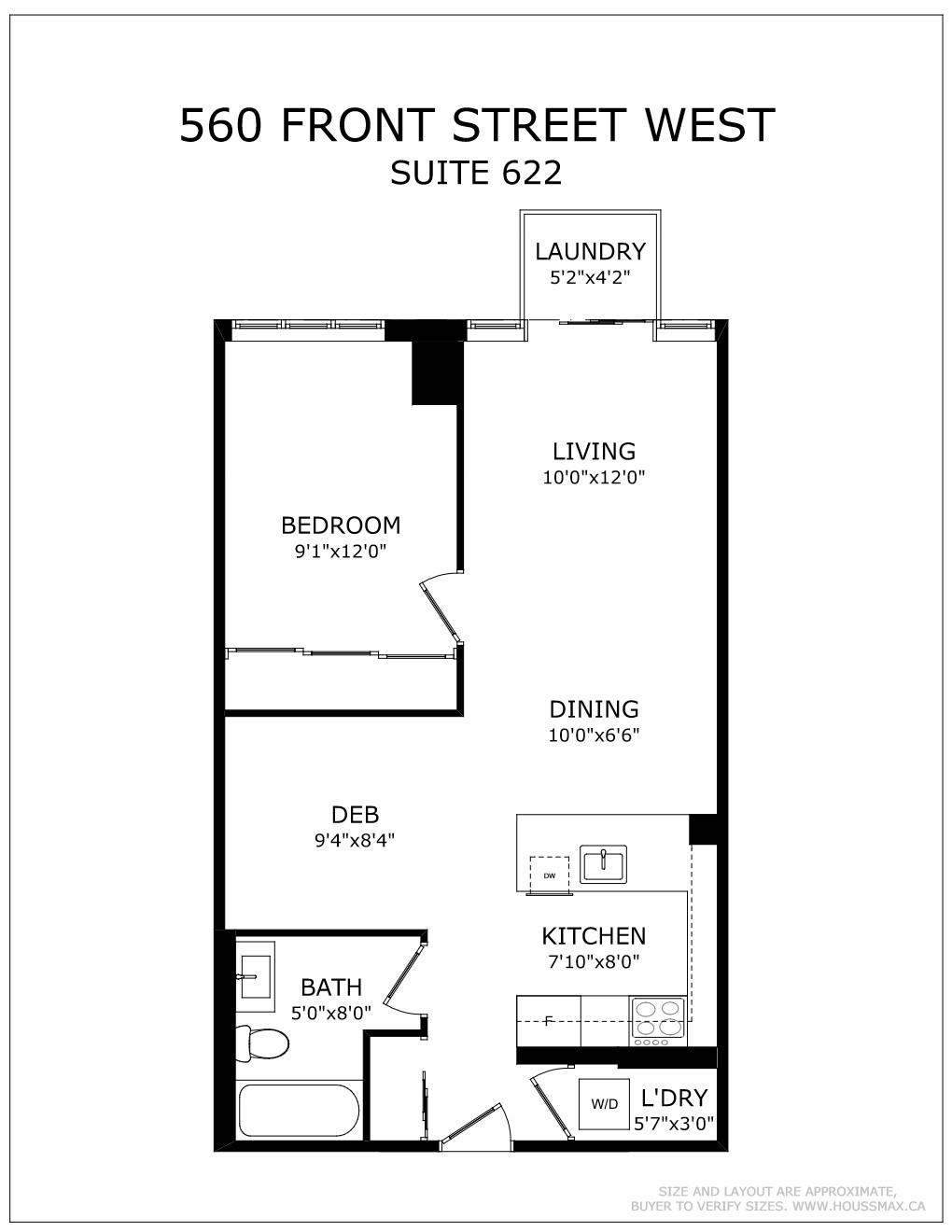 Floor Plans for 560 Front St W Unit 622
