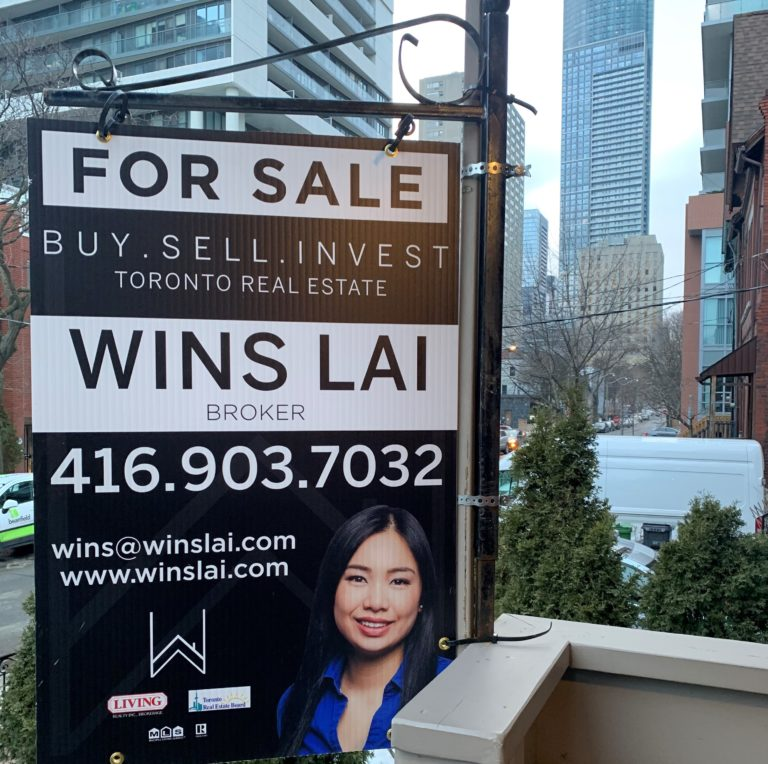 Wins Lai - For Sale sign in Toronto.