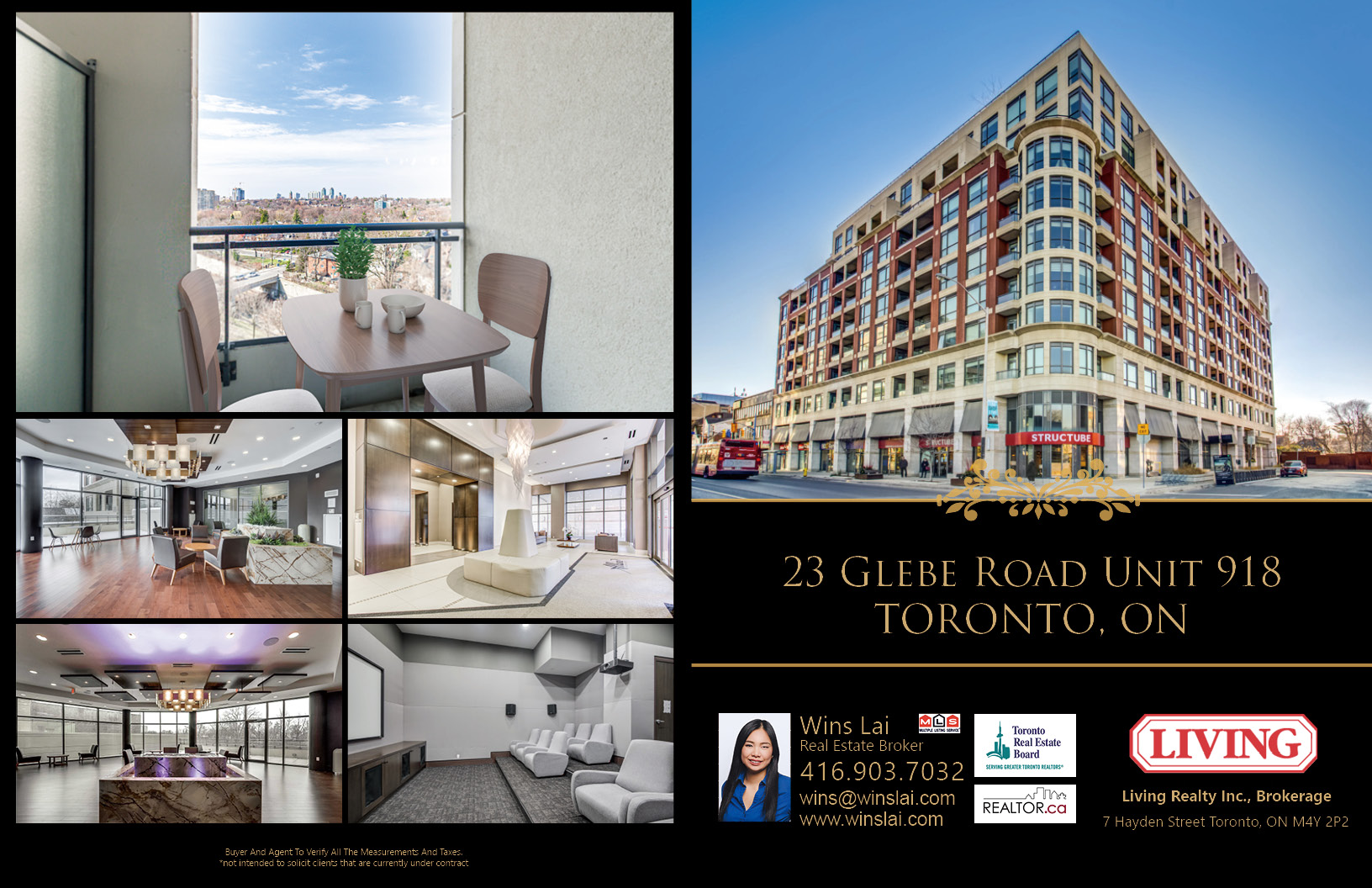 Marketing brochure showing several images of Allure Condos.