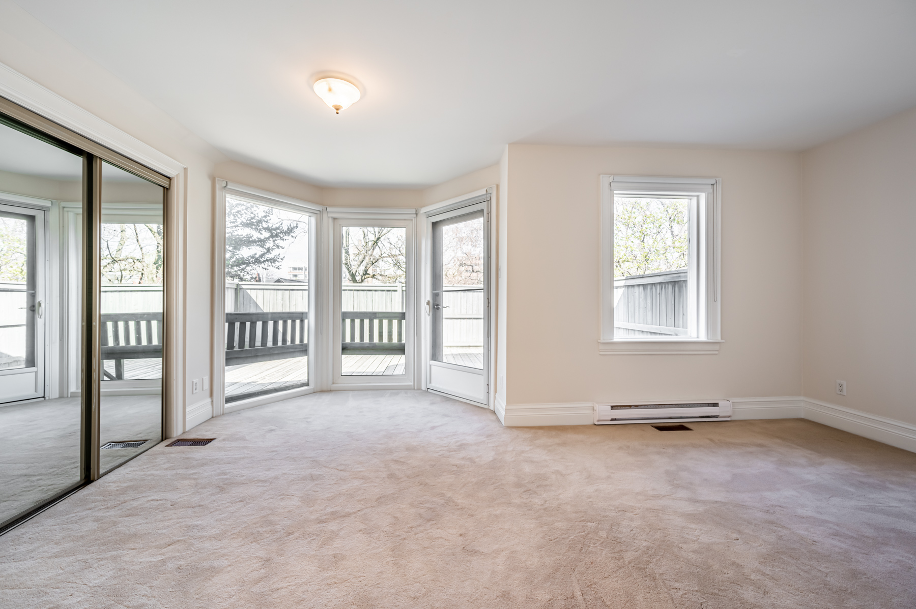98 Bedford Rd master bedroom with walk-out deck.