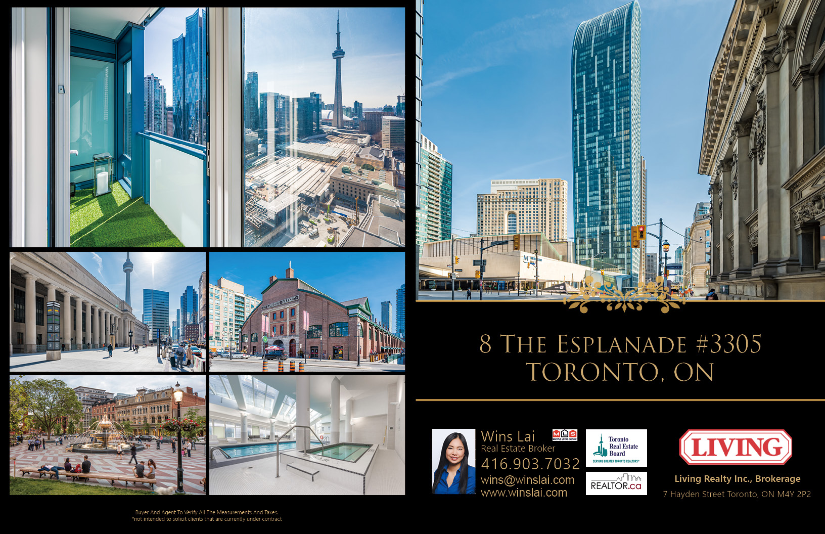 Brochure of 8 The Esplande Ave with photos of building and neighbourhood.