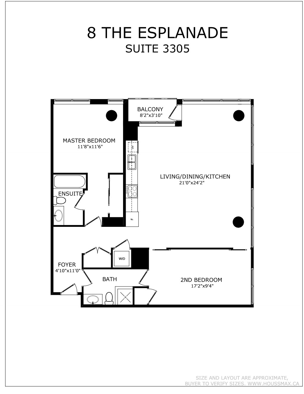 8 The Esplanade Street Unit 3305 Floor Plan