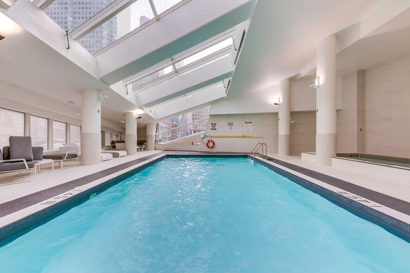 Indoor swimming pool amenity at L Tower Condos.