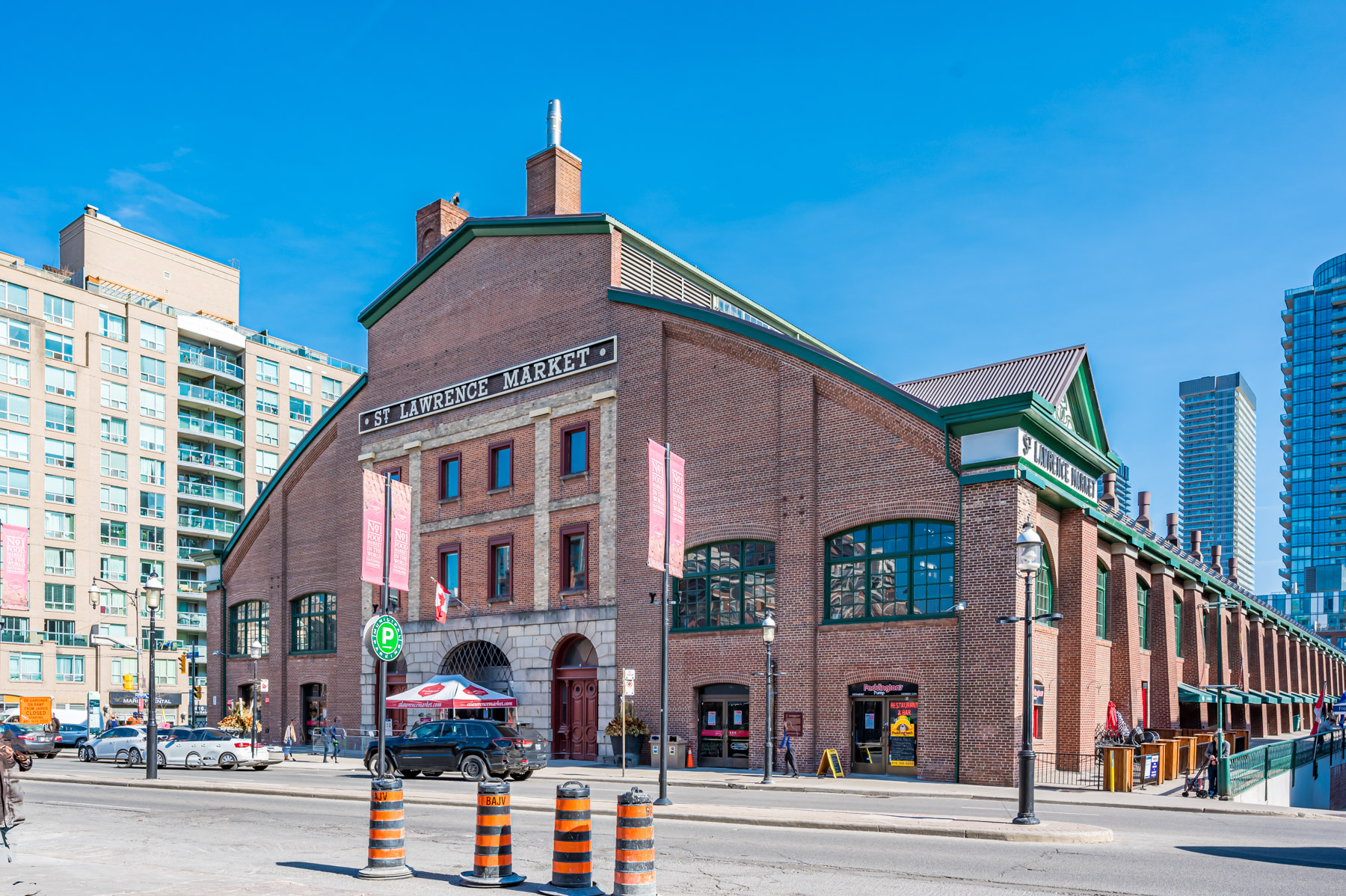 Exterior of St. Lawrence Market in Toronto.