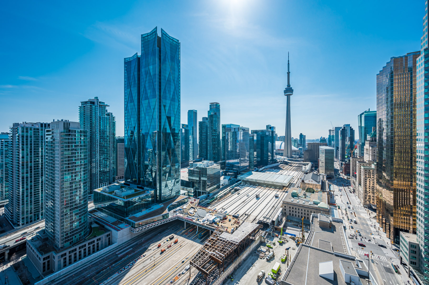 View of Toronto and CN Tower in spring showing rebirth of March 2021 GTA market.