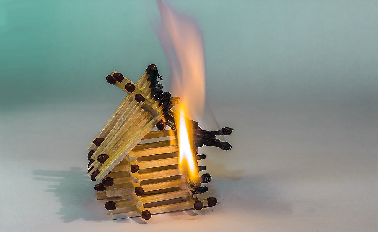 Burnt matchstick house showing extremely heated March 2021 GTA housing market.