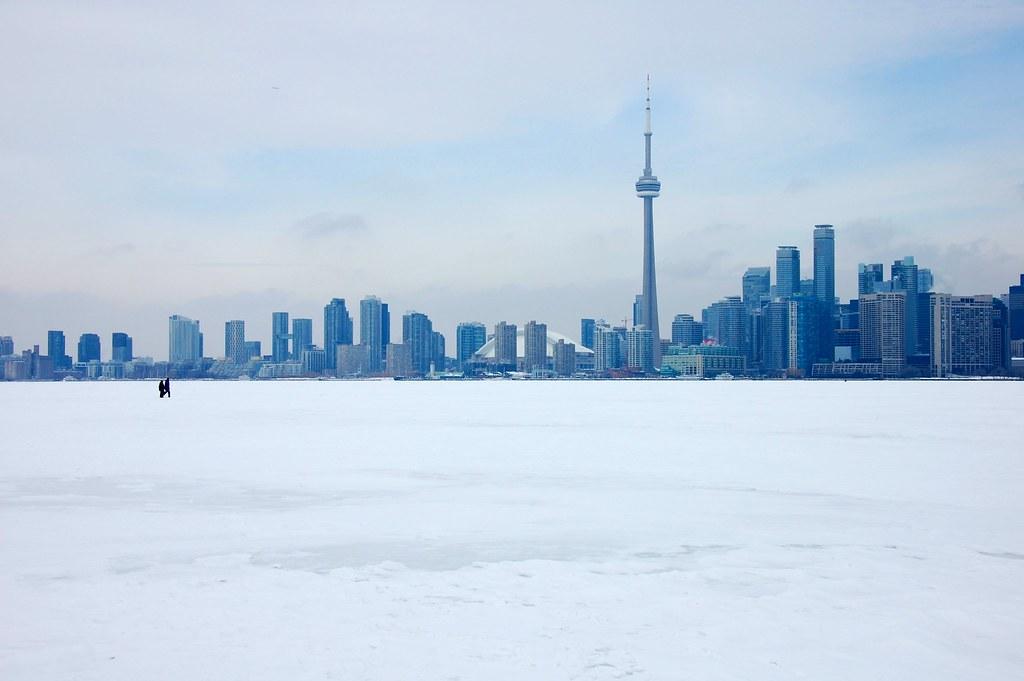 Toronto skyline in winter.