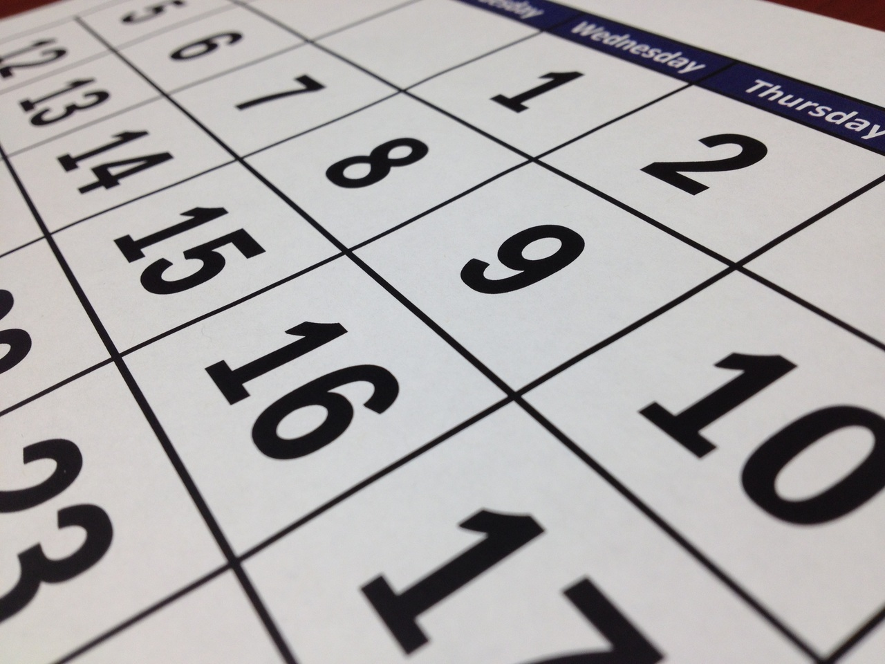 Close up of calendar to show when new mortgage stress test takes effect.