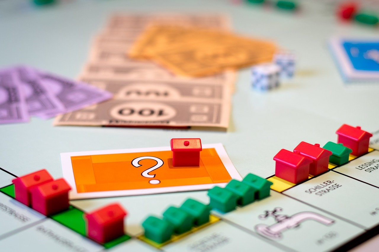 Monopoly board game showing uncertainty of home prices post COVID-19.