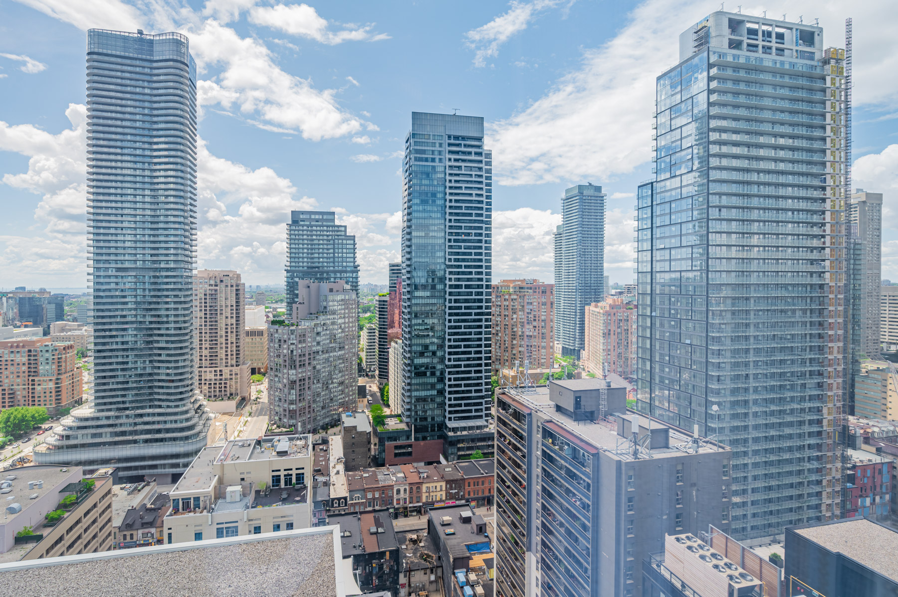 View of Church-Yonge Corridor buildings from 28 Wellesley St Unit 3009 balcony.