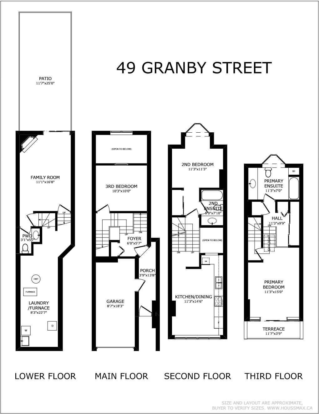 Floor plans for 49 Granby St