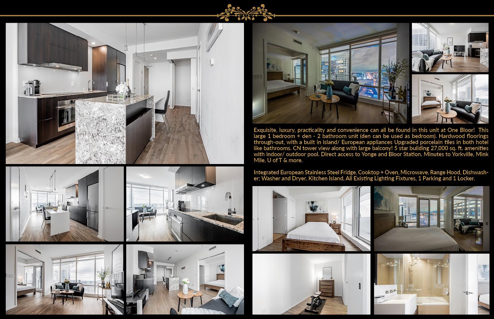 1 Bloor Street East Unit 3409 Brochure Page 2